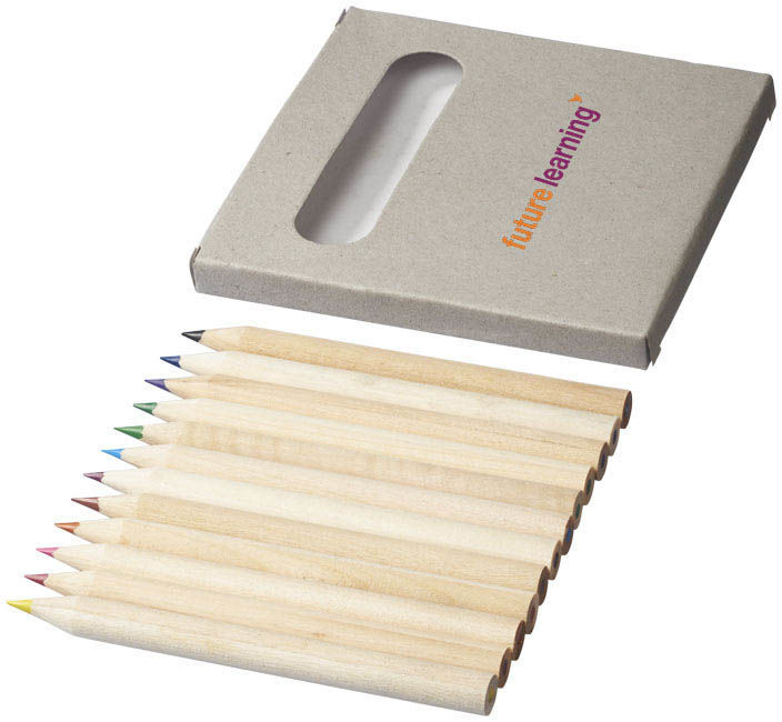 Tom | Set crayons de couleurs publicitaire | KelCom Naturel 3