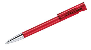 Liberty Clear PM | Stylo bille publicitaire | KelCom Rouge