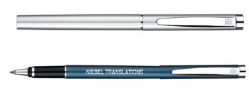 stylo personnalisable roller - SILVER LINE - stylos premium